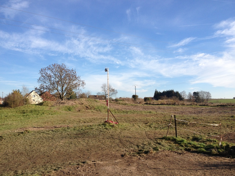 Photograph of site taken on 9 December 2013 showing archaeological workings backfilled
