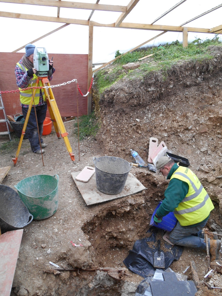 Surveying - all finds were plotted using a total station
