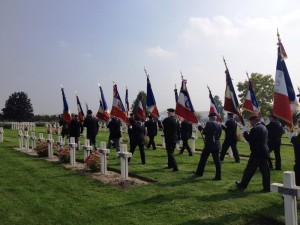 Anciens combattants provided standard bearers for the ceremony